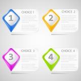 Flèches indicatrices bien choisies de papier Image libre de droits