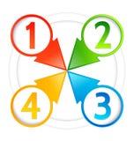 Flèches indicatrices d'information avec des numéros Photographie stock libre de droits