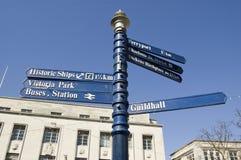 Flèches indicatrices de Portsmouth Photo libre de droits
