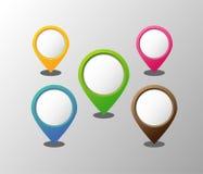 Flèches indicatrices vides du rond 3D Image libre de droits