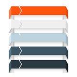 Flèches infographic, diagramme, graphique, présentation, diagramme Concept d'affaires avec 5 options, pièces, étapes, processus Images libres de droits