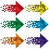 Flèches multicolores à indiquer. Photographie stock libre de droits