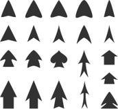 Flèches noires Photographie stock