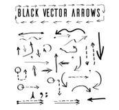 Flèches noires de vecteur Images stock