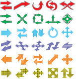 Flèches réglées Image stock