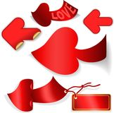 Flèches rouges Photographie stock libre de droits