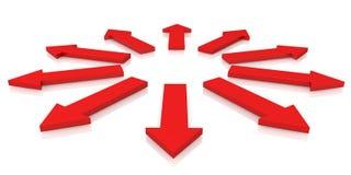 Flèches rouges Image libre de droits