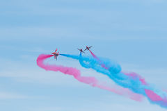 Flèches rouges chez le Pays de Galles Airshow national 2017 Photos stock