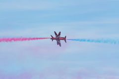 Flèches rouges chez le Pays de Galles Airshow national 2017 Photo stock