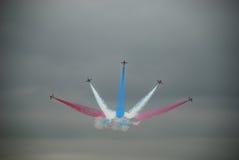 Flèches rouges 2 d'Airshow Photo libre de droits