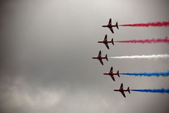 Flèches rouges 3 d'Airshow Image stock