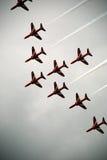 Flèches rouges 6 d'Airshow Images libres de droits