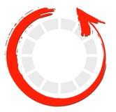 Flèches rouges de cercle Photographie stock libre de droits
