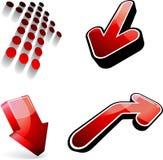Flèches rouges de vecteur Photographie stock libre de droits