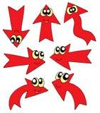 Flèches rouges mignonnes Photographie stock libre de droits