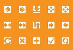 Flèches   Série découpée avec des matrices Photo libre de droits