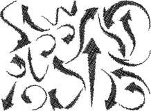 Flèches simples de griffonnage Image stock
