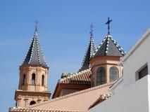 Flèches sur l'église d'Orgiva Images libres de droits