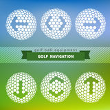Flèches sur la boule de golf Image stock