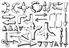 Flèches sur le fond blanc Image libre de droits