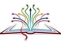 Flèches sur le livre Illustration Stock