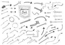 Flèches tirées par la main illustration libre de droits