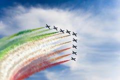 Flèches tricolores image libre de droits