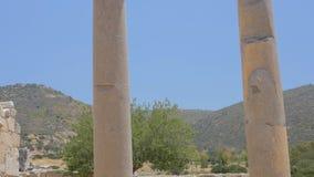 Fléau antique Patara, Turquie banque de vidéos