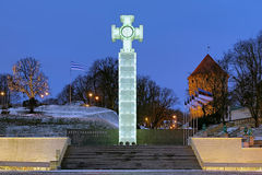 Fléau de victoire de Guerre d'Indépendance à Tallinn, Estonie Photo stock
