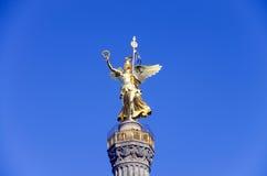 Fléau de victoire de Siegessaeule à Berlin image libre de droits