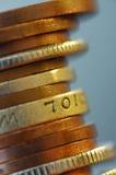 Fléau des pièces de monnaie Image libre de droits