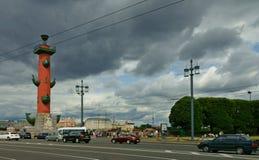 Fléau Rostral à St Petersburg photo stock