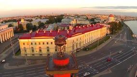 Fléau Rostral St Petersburg Mouche autour clips vidéos
