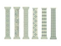 fléau Style dorique et romain Ensemble de fléaux Illustration de vecteur Photographie stock