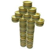 fléaux 3d d'euro pièces de monnaie Photo stock