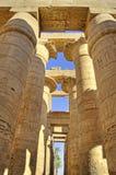 Fléaux au temple de Karnak Photographie stock libre de droits