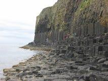 Fléaux de basalte, île de Staffa Photos libres de droits