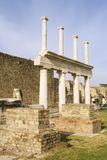 Fléaux de basilique de Pompeii photo libre de droits