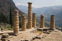 Fléaux de temple d'Apollo Image libre de droits