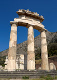 Fléaux du temple de Tholos photographie stock libre de droits