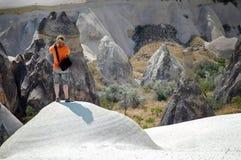 Fléaux en pierre dans Cappadocia, Turquie Photo stock