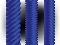Fléaux verticaux bleus illustration de vecteur