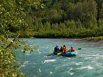 Flößen auf Sixmile Nebenfluss Stockfoto