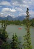 Flößen in Banff Stockbild