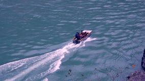 Flößen in Ganga-Fluss in Rishikesh Lizenzfreies Stockbild