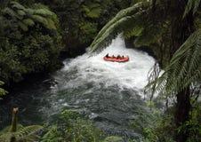 Flößen im Neuseeland Stockfotos