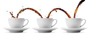 Flöda för kaffe arkivbild