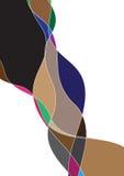 Flödande abstrakt bakgrund Arkivfoto
