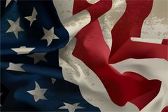 Flödande amerikanska flaggan Fotografering för Bildbyråer