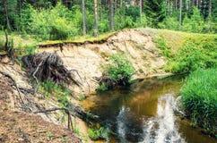 flödande flod fotografering för bildbyråer